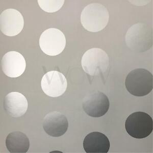 World-Of-Wallpaper-Metallique-Grand-Pois-a-Pois-Argent-Gris-A617-Cao-4