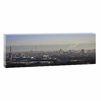 Panorama Wandbild Keilrahmen Bild Poster Leinwand  XXL Leopard 150 cm*50 cm 303