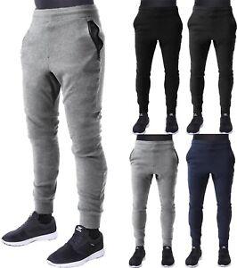 Mens-JOGGER-Zipper-Pants-Urban-Elastic-Slim-Fit-Fleece-Pocket-Jogging-Premium