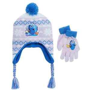 d9400190cb6f4d Disney Finding Dory Girls Purple Nemo Fish Trapper Hat & Gloves Cold ...