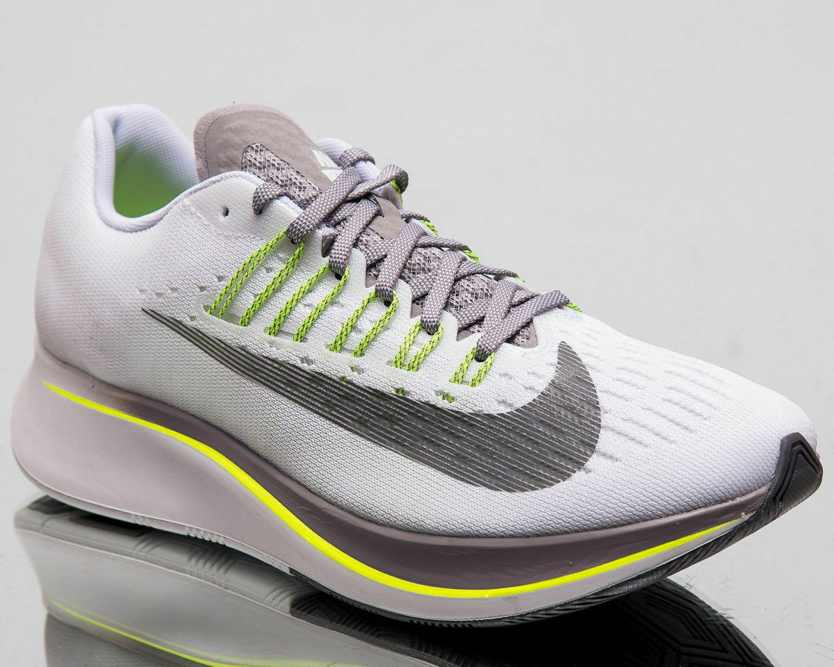 2b719e6b3c42 Womens Nike Zoom Fly 897821-101 White Gunsmoke NEW NEW NEW Size 6 c74ae7