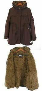 Molly Frakke Jakke Vinter Brown Fur Faux Odd Sz 738a Uncorporated Parka Fitted 1 gdxwR4q