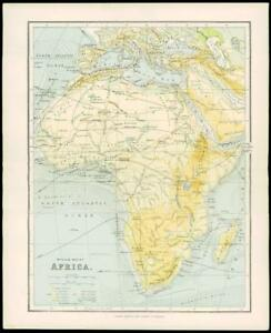 Africa Physical Map Madagascar.Details About 1900 Antique Colour Map Physical Map Of Africa Madagascar Arabia 13