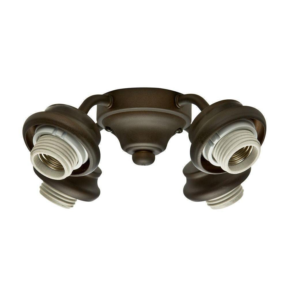 Casablancoa 4 luz ajustador Ventilador de techo doncella bronce 99033