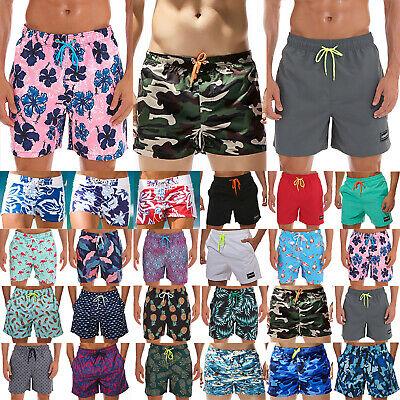 Mens Pineapple Pattern Summer Holiday Swim Trunks Beach Shorts Cargo Shorts