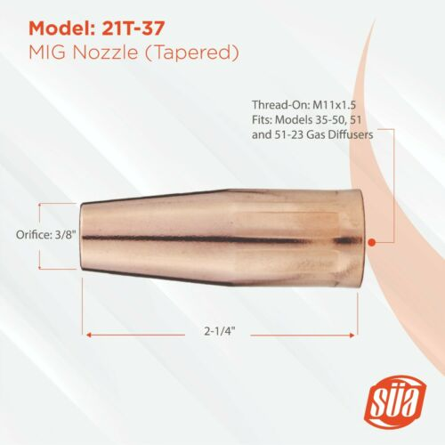 MIG Gun Parts for LIN 100L Tapered Tips Tweco Mini #1 Diffusers Nozzles