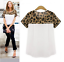 Women-Leopard-Chiffon-T-Shirt-Casual-Loose-Casual-Short-Sleeve-Tops-Blouse thumbnail 5