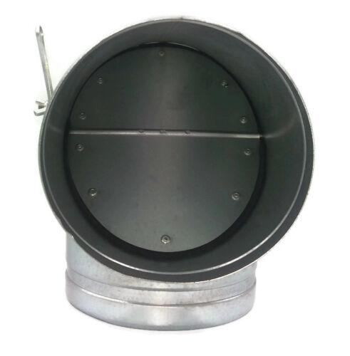 ACCIAIO zincato T Pezzo con acceleratore//SMORZATORE canalizzazione tubo//tubo dell/'otturatore