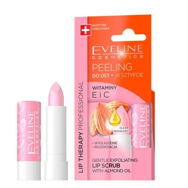 Eveline Gentle Exfoliating Lip Scrub with Almond Oil Vitamin E C Lip Peeling
