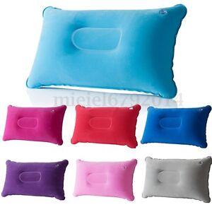 Inflatable Camping Pillow Lightweight Travel Airplane Air Cushion Beach Car