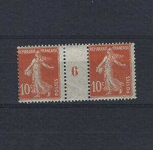France-Yvert-n-138-Paire-millesime-6-neuf-avec-charniere