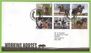 Conjunto-de-Graham-Brown-2014-dias-caballos-Royal-Mail-primer-dia-cubierta-tallents-House