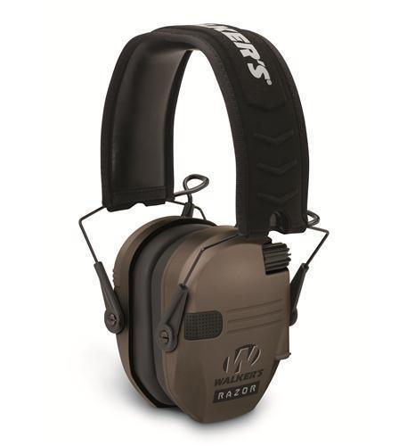 Walkers Razor Series Slim Shooter Folding Ear Muff Dark Earth WGE-GWP-RSEM-FDE