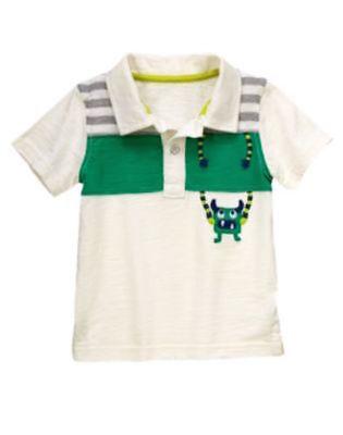 NWT Boys Gymboree Monstro-politan green short sleeve shirt 12-18 months 2T 3T