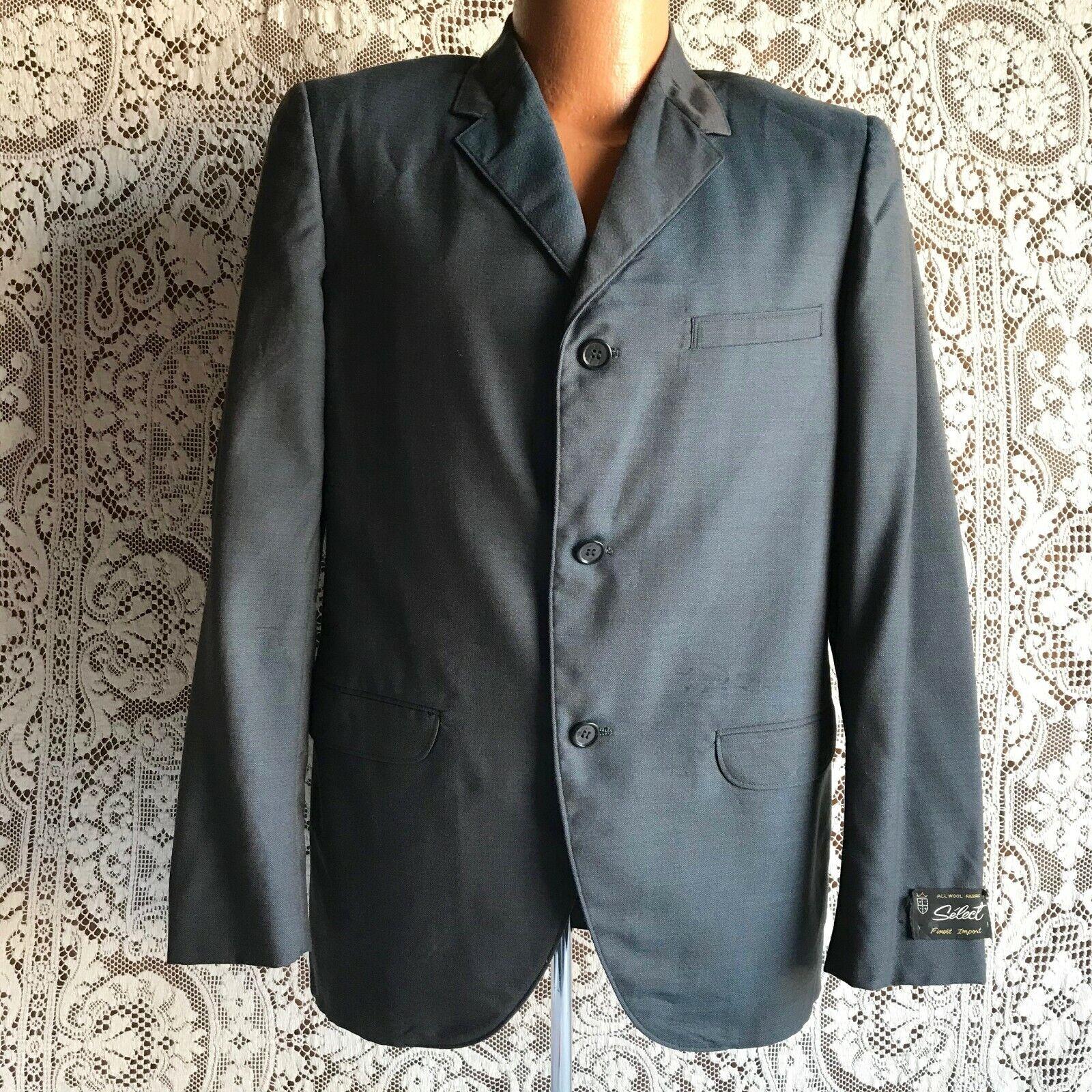 Metal Back Zipper Light Gray Knit Collar 1950s1960s Dark Gray Short Sleeve Blouse