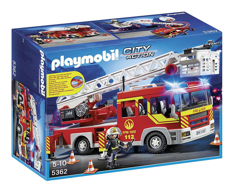 Playmobil City action 5362- LKW von Feuerwehr und Leiter mit Lichter und Ton