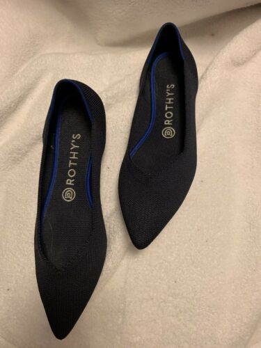Rothys The Point Maritime Navy Size 8 1/2 Women's