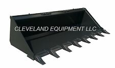 "NEW 60"" TOOTH BUCKET Skid Steer Loader Attachment Teeth ASV Posi Track Scat Trak"