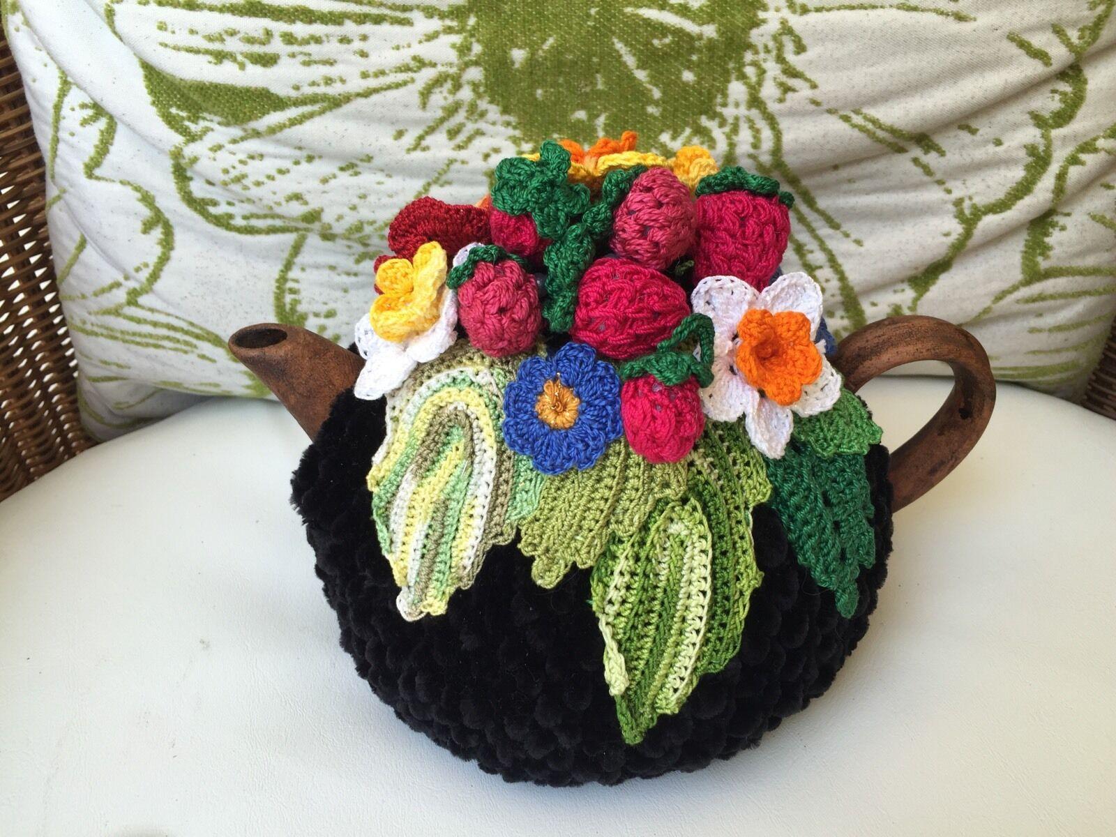 NEW  Handmade Tea Cozy Midnight In The Garden From Ukrainian Designer