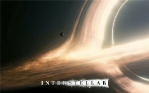 "Interstellar 2014 Movie Silk Fabric Cloth Art Poster 40 x 24"" I15"