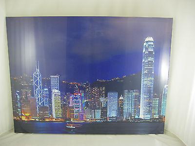 Candido Brand New Large Sunrise Newyork Tela Stampa 80 X 60 Cm Pronto Da Appendere-mostra Il Titolo Originale I Clienti Prima Di Tutto