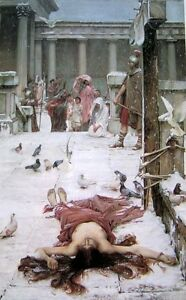 Oil-painting-Waterhouse-Death-of-Saint-Eulalia-in-winter-amp-birds-no-framed-36-034