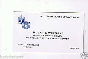 Hogan Westlake Dodge Plymouth Otto J Westlake Co Owner Old