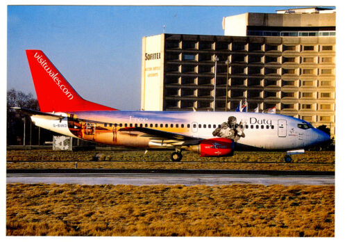 BMIbaby UK Airlines Boeing B73759D Postcard