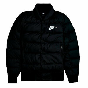 Plano Manifestación Cambiarse de ropa  Nike Sportswear Down Fill Bomber Chaqueta Negro Hombre | eBay