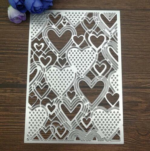 Herz Karte Dekoration Metall Stencil Cutting Dies Scrapbooking Stanzschablone