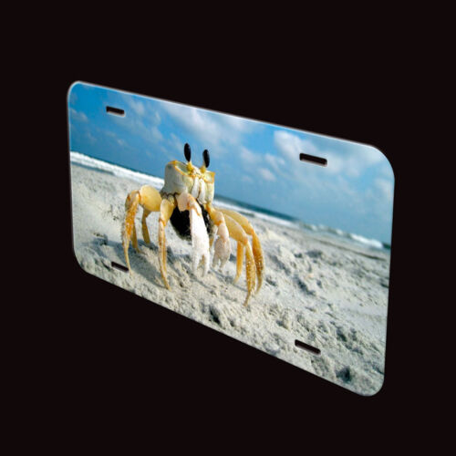 Crab On The Beach Aluminum Personalized Novelty Auto Car License Plate