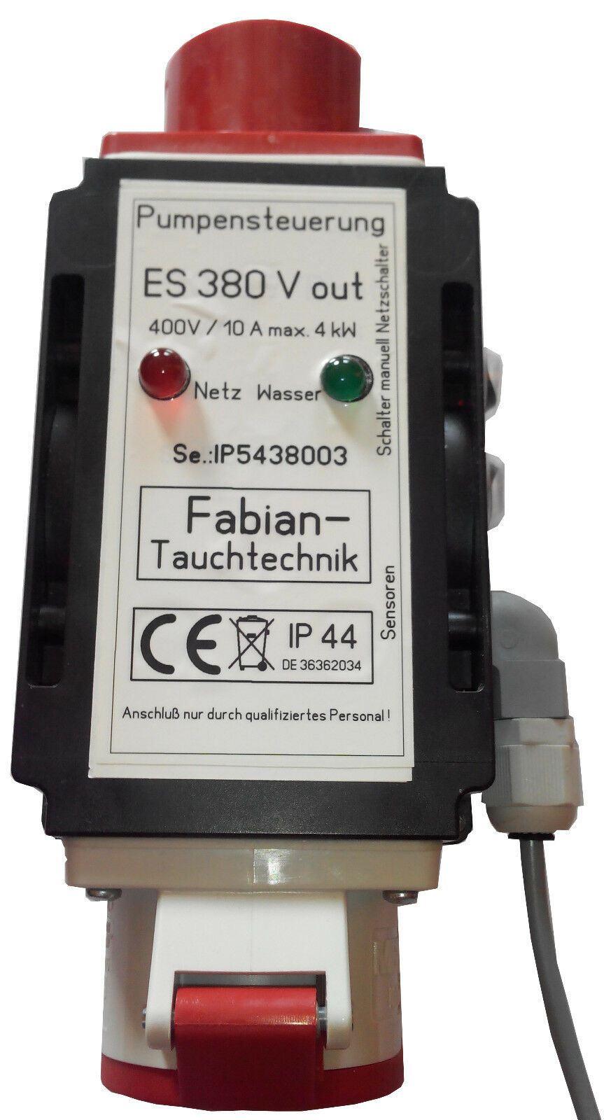 ES 380 Pumpensteuerung ,Niveausteuerung ,Entwässerung  mi. Sensorenanschlußbox
