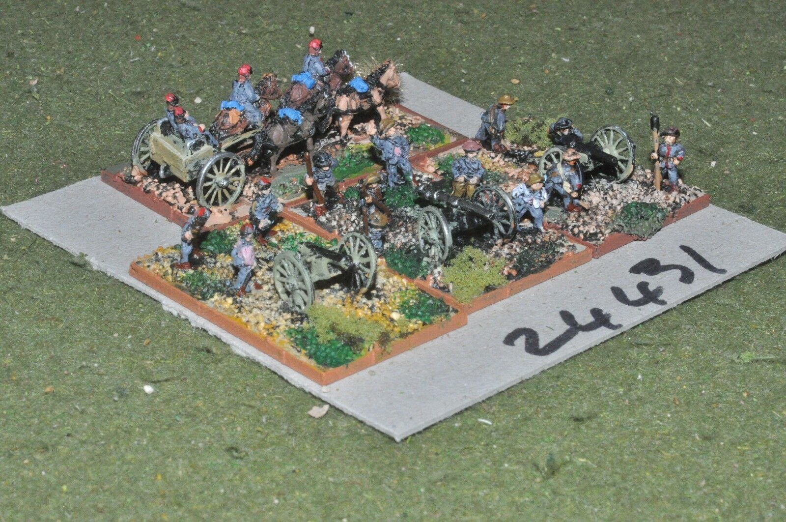 10mm ACW   confederate - 3 guns & crews - art (24431)