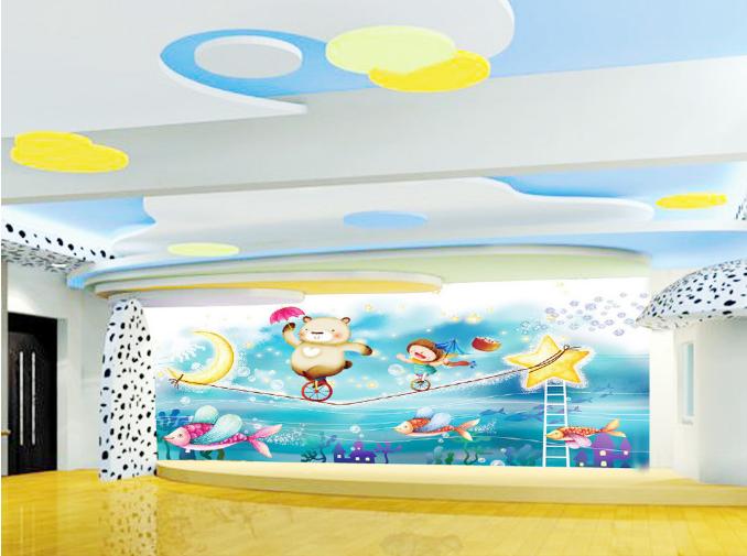 3D Cartoon Moon Bear 8 Wallpaper Mural Paper Wall Print Wallpaper Murals UK Kyra