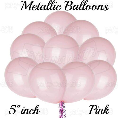 "5/"" Inch pearl Balloons metallic pastel baloon Birthday anniversary baby shower"