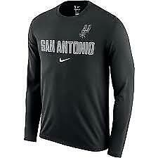 Nike-Mens-NBA-San-Antionio-Spurs-Long-Sleeve-Facility-T-Shirt-Dri-XXL-2XL-NEW