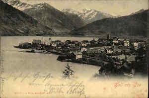 Zell-am-See-Salzburg-Osterreich-s-w-AK-um-1900-gelaufen-Gesamtansicht-Panorama