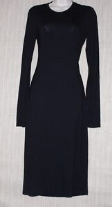 3372d3296dc9 SEXY JUST CAVALLI BLACK RAYON STRETCH LONG SLEEVE OPEN BACK COCKTAIL ...