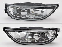 Toyota Corolla 2001-2002 Front Bumper Glass Fog Lights Lamps Pair Rh Lh