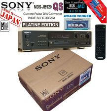 Sony PLATINE MDS-JB920 QS with ES Functions! BLACK Recorder Minidisc DECK