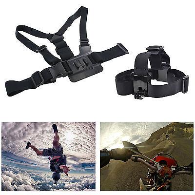 Adjustable Head + Chest Strap Mount Accessories For GoPro Hero 1 2 3 3+ 4 SJ4000