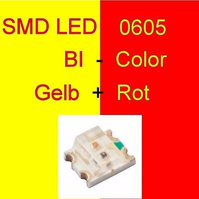 1/10/20 Pezzi Smd Led 0605 Duo Bi-color Giallo/rosso Duo Led Bicolore C3253-mostra Il Titolo Originale