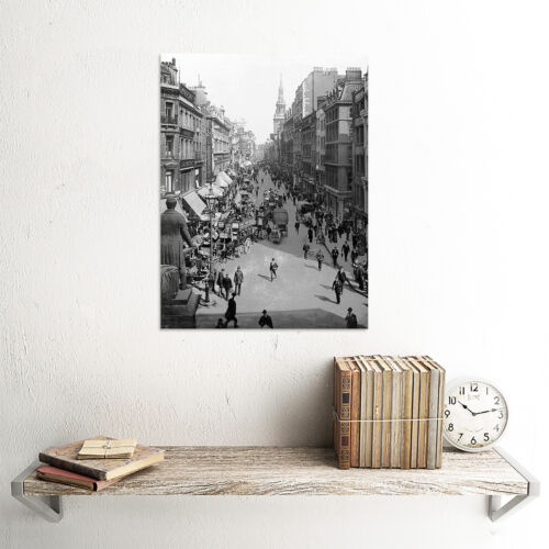 CHEAPSIDE LONDON VINTAGE HISTORY OLD BW PHOTO PRINT POSTER 379BWB
