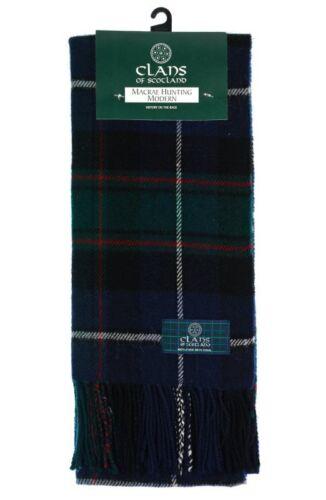 Scottish 100/% Wool Tartan Clan Scarf MacRae Hunting Mod