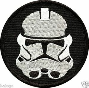 Star Wars Biker Scout Helmet embroidered Patch 3 1//2 inches tall