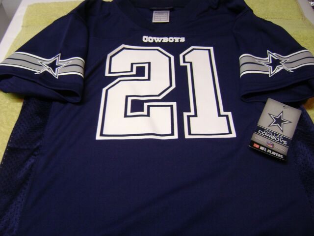 new arrival 6daee 885db Dallas Cowboys Ezekiel Elliott Navy Blue Youth Large Jersey Team NFL