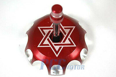 NEW 55MM RED CNC BILLET FUEL GAS CAP For CR125 CR100 CR230F CR250 M GC15