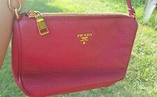 Genuine Prada Small Shoulder Handbag - Pink