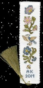 Rosa y aciano marcador Kit-una puntada cruzada contada Kit por Bothy Designs