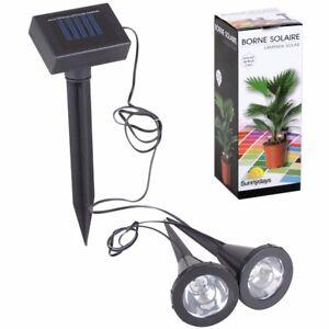 Image is loading SOLAR-POWERED-GARDEN-SPIKE-LIGHTS-Garden-Stake-Post-  sc 1 st  eBay & SOLAR POWERED GARDEN SPIKE LIGHTS Garden Stake Post Flower Pot/Path ...